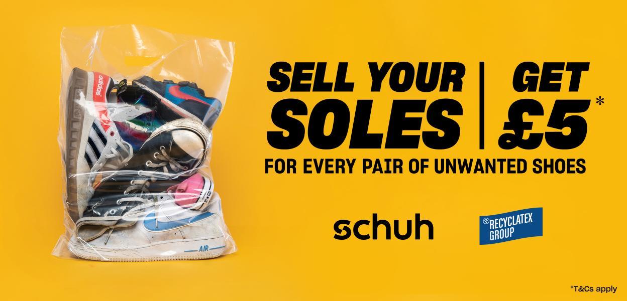 schuh sell your soles recyclatex buchanan galleries glasgow