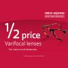 Varifocal half price offer at Vision Express