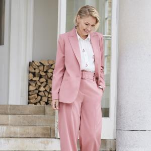 Emma Willis AW20 collection pink suit for Next