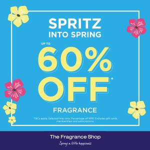 spritz into spring at The fragrance shop