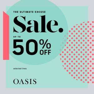 Oasis winter sale up to 50% off at Buchanan Galleries Glasgow