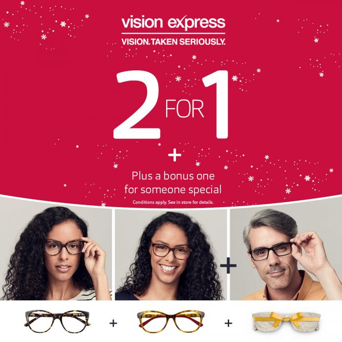 Vision Express 2 for 1 offer buchanan galleries glasgow