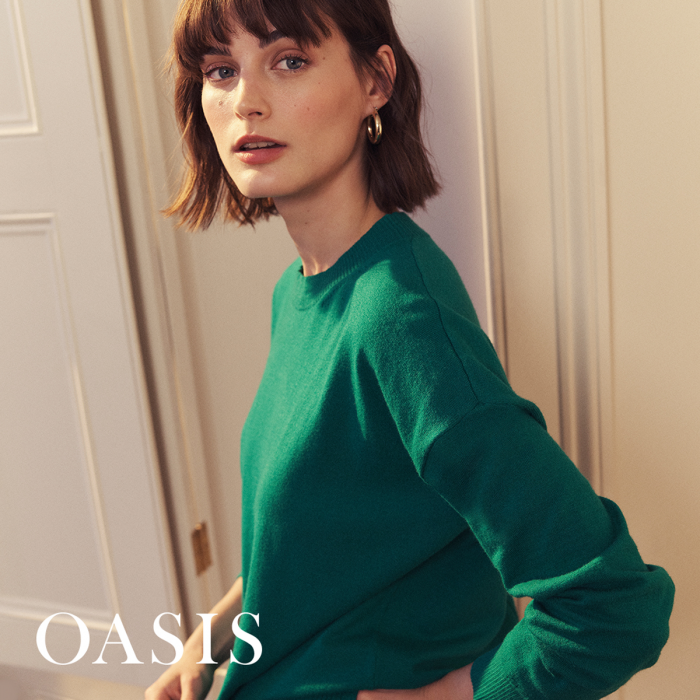 Oasis very lovely product spring fashion green jumper
