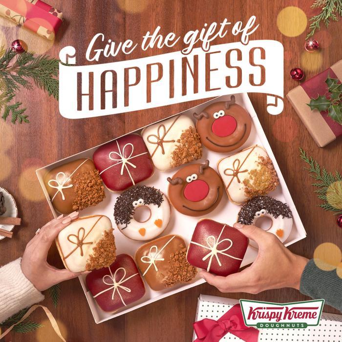 krispy kreme christmas doughnuts buchanan galleries