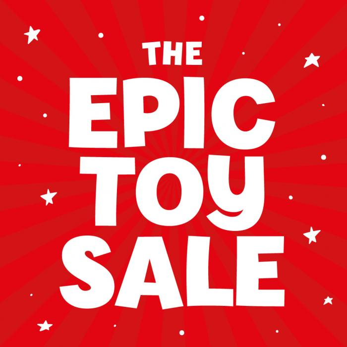 The Entertainer Epic toy sale now on