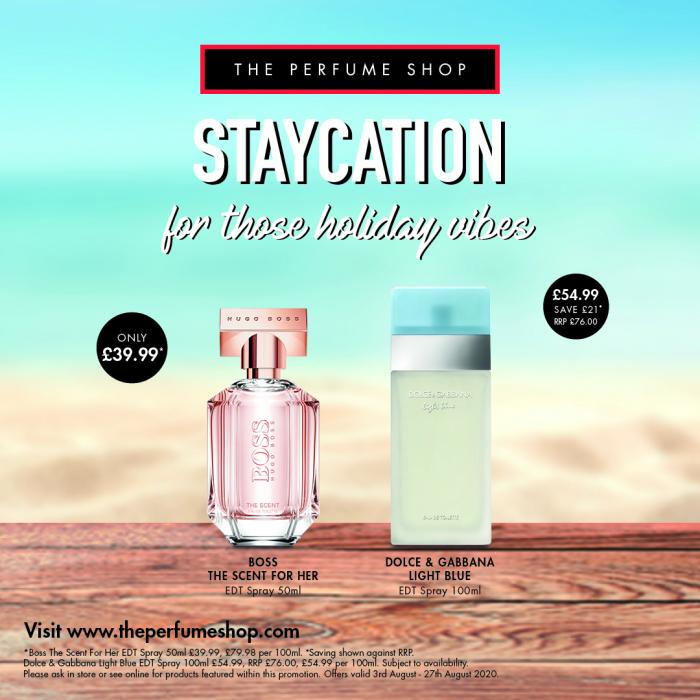 Staycation Offers at The Perfume Shop
