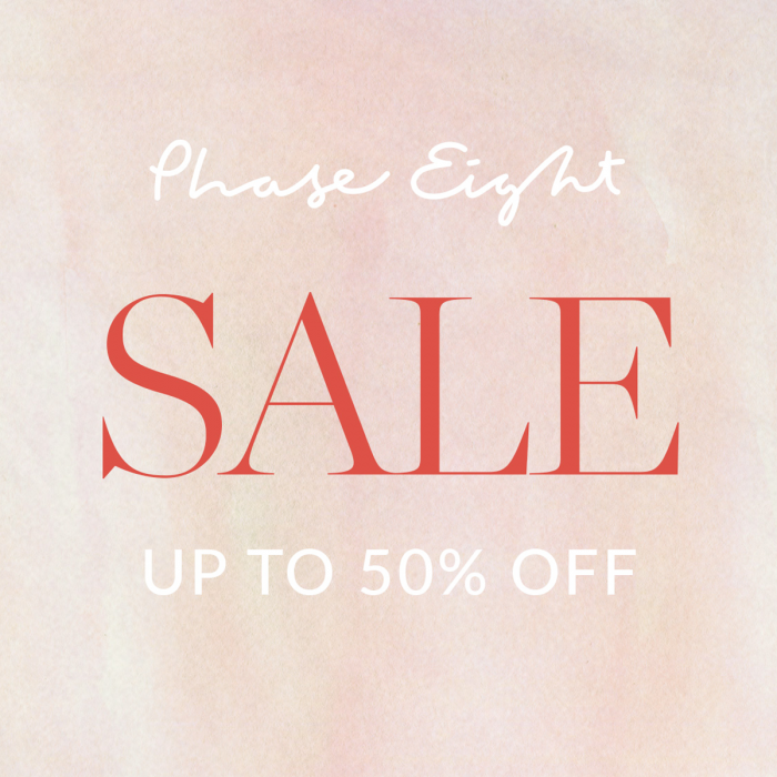 Phase Eight Mid Season Sale up to 50% off graphic