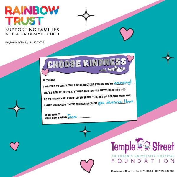 Smiggle Charity Kind Note
