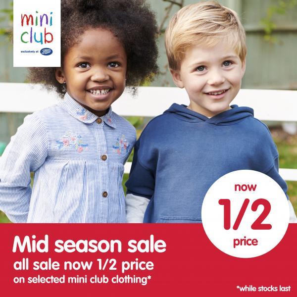 71fe73b949dd All sale items now Half Price at Boots Miniclub | Buchanan Galleries